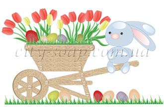 Картинка на водорастворимой бумаге, Пасхальная 01009