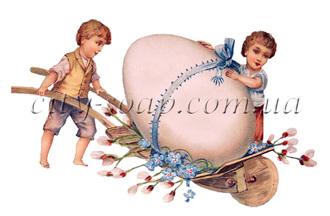 Картинка на водорастворимой бумаге, Пасхальная 01047