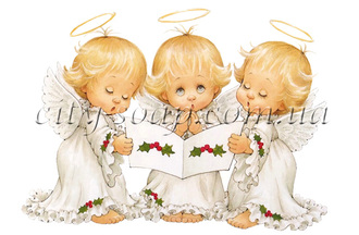 Картинка на водорастворимой бумаге, Ангелочки 02003: ангелочки - 1 | city-soap.com.ua
