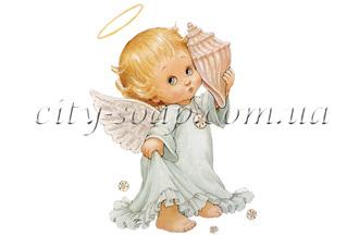 Картинка на водорастворимой бумаге, Ангелочки 02006