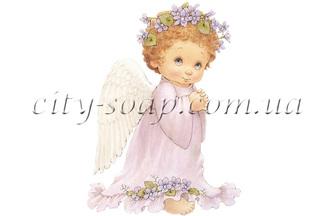 Картинка на водорастворимой бумаге, Ангелочки 02008