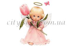 Картинка на водорастворимой бумаге, Ангелочки 02012