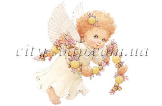 Картинка на водорастворимой бумаге, Ангелочки 02013