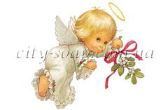 Картинка на водорастворимой бумаге, Ангелочки 02014