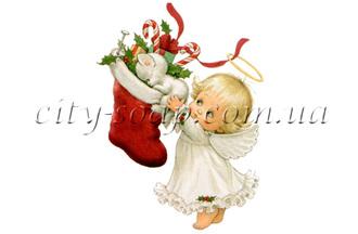 Картинка на водорастворимой бумаге, Ангелочки 02015: ангелочки - 1 | city-soap.com.ua