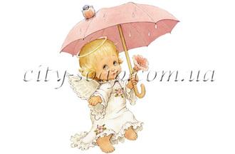 Картинка на водорастворимой бумаге, Ангелочки 02016