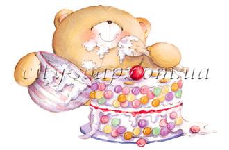 Картинка на водорастворимой бумаге, Медведи 03001: медведи - 1   city-soap.com.ua
