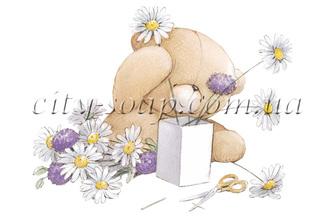 Картинка на водорастворимой бумаге, Медведи 03003: медведи - 1 | city-soap.com.ua