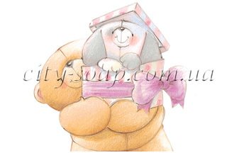 Картинка на водорастворимой бумаге, Медведи 03004: медведи - 1 | city-soap.com.ua
