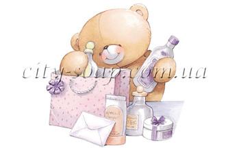 Картинка на водорастворимой бумаге, Медведи 03006: медведи - 1 | city-soap.com.ua