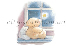 Картинка на водорастворимой бумаге, Медведи 03009
