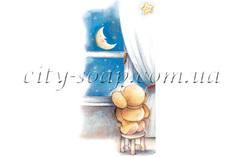 Картинка на водорастворимой бумаге, Медведи 03010