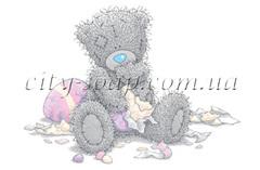 Картинка на водорастворимой бумаге, Медведи 03014