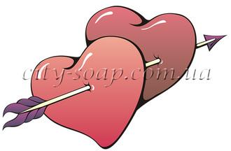 Картинка на водорастворимой бумаге, Сердце 04002