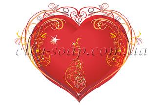 Картинка на водорастворимой бумаге, Сердце 04003: сердца - 1 | city-soap.com.ua