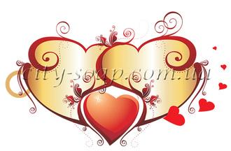 Картинка на водорастворимой бумаге, Сердце 04006: сердца - 1   city-soap.com.ua