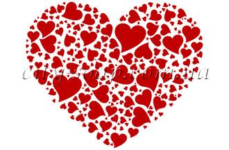 Картинка на водорастворимой бумаге, Сердце 04009