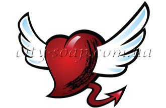 Картинка на водорастворимой бумаге, Сердце 04010: сердца - 1 | city-soap.com.ua