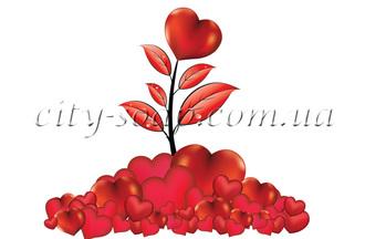 Картинка на водорастворимой бумаге, Сердце 04011: сердца - 1   city-soap.com.ua