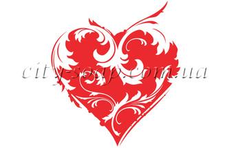 Картинка на водорастворимой бумаге, Сердце 04012