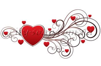 Картинка на водорастворимой бумаге, Сердце 04014