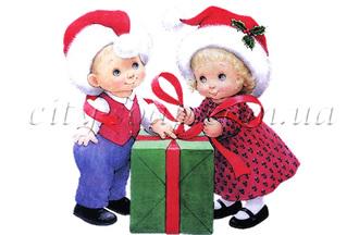 Картинка на водорастворимой бумаге, Дети 06001: новый год и зима - 1 | city-soap.com.ua