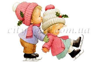 Картинка на водорастворимой бумаге, Дети 06002: новый год и зима - 1   city-soap.com.ua