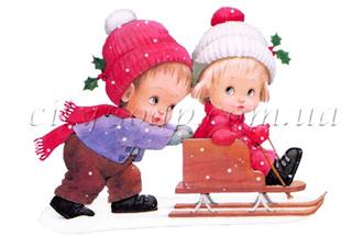 Картинка на водорастворимой бумаге, Дети 06005: новый год и зима - 1 | city-soap.com.ua