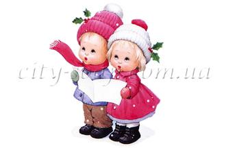 Картинка на водорастворимой бумаге, Дети 06009: новый год и зима - 1 | city-soap.com.ua