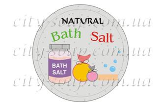 "Наклейка ""Natural bath salt"""