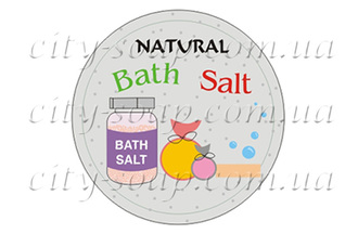"Наклейка ""Natural bath salt"""