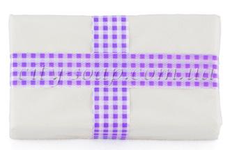 Лента клетчатая фиолетовая