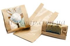 Коробочки Бумажный крафт-пакет с окошком   city-soap.com.ua
