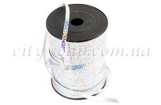 Лента серебрянная голографическая