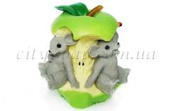 """Пищевые красители Форма для мыла люкс """"Мышки в яблоке 3D""""   city-soap.com.ua"""