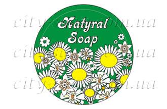 """Наклейка """"Natural soap ромашки"""": наклейки - 1   city-soap.com.ua"""