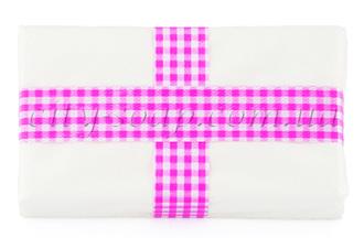 Лента клетчатая розовая: ленты и бечевка - 1 | city-soap.com.ua