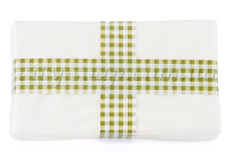 Лента клетчатая зеленая: ленты и бечевка - 1 | city-soap.com.ua