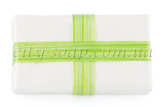 Лента полосатая зеленая