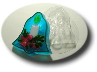"""Форма пластиковая """"Рождественский колокольчик"""": формы пластиковые для мыла - 1   city-soap.com.ua"""