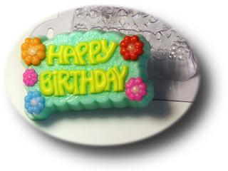 """Форма пластиковая """"Happy Birthday"""""""
