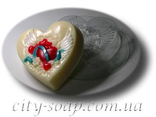 """Форма пластиковая """"На крыльях любви"""": формы пластиковые для мыла - 1   city-soap.com.ua"""