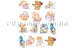 Картинки на водорастворимой бумаге, Медведи набор