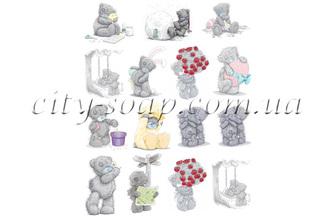 Картинки на водорастворимой бумаге, Тедди набор: медведи - 1 | city-soap.com.ua