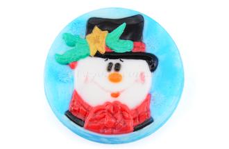 """Форма пластиковая """"Новогодний снеговик"""": формы пластиковые для мыла - 1   city-soap.com.ua"""