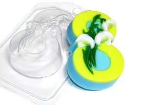 """Форма пластиковая """"Подснежники 8 марта"""": формы пластиковые для мыла - 1   city-soap.com.ua"""