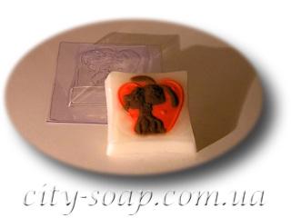 """Форма пластиковая """"Сладкая парочка"""": формы пластиковые для мыла - 1   city-soap.com.ua"""