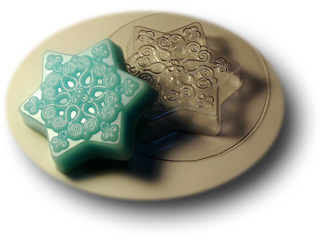 """Форма пластиковая """"Маленькая снежинка"""": формы пластиковые для мыла - 1   city-soap.com.ua"""